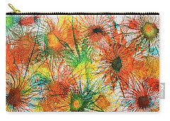 Exploflora Series Number 5 Carry-all Pouch by Sumit Mehndiratta
