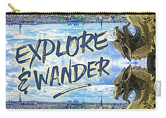 Explore And Wander Notre Dame Cathedral Gargoyle Paris Carry-all Pouch