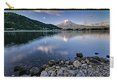 Exploring My Way Along Lake Kawaguchi Shoreline Carry-all Pouch