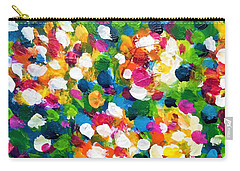 Carry-all Pouch featuring the painting Explosion Of Colors by Cristina Stefan