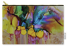 Carry-all Pouch featuring the painting Explosion Of Petals by Joanne Smoley
