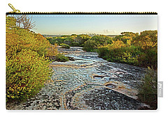 Carry-all Pouch featuring the photograph Exposed Sandstone In North Head by Miroslava Jurcik