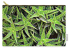 Carry-all Pouch featuring the photograph Expressionalism Aloevera by Aimee L Maher Photography and Art Visit ALMGallerydotcom