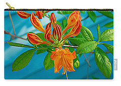 Carry-all Pouch featuring the photograph Expressionalism Budding Azalea by Aimee L Maher Photography and Art Visit ALMGallerydotcom