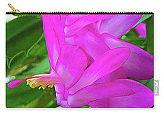 Carry-all Pouch featuring the photograph Expressionalism Christmas Cactus Flower by Aimee L Maher Photography and Art Visit ALMGallerydotcom