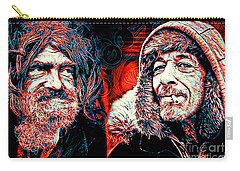 Carry-all Pouch featuring the digital art Expressions by Zedi