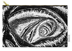 A0216a Expressive Abstract Black And White Carry-all Pouch