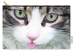 Carry-all Pouch featuring the photograph Expressive Maine Coon Photo A6217 by Mas Art Studio