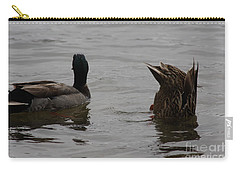 Carry-all Pouch featuring the photograph Extreme Fishing by Kim Henderson