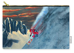 Extreme Ski Painting  Carry-all Pouch by Sassan Filsoof