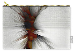 Carry-all Pouch featuring the digital art Sculptural Series Painting 51.072110windblscext1590l10110l by Kris Haas
