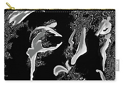 Carry-all Pouch featuring the digital art Exuberant by Mary Armstrong