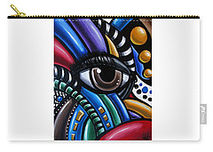 Carry-all Pouch featuring the painting Eye Am - Abstract Art Painting - Intuitive Art - Ai P. Nilson by Ai P Nilson