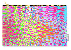 Carry-all Pouch featuring the digital art 	Eye Candy Tapestry				 by Ann Johndro-Collins