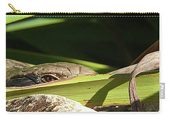 Carry-all Pouch featuring the photograph Eye Contact by Evelyn Tambour
