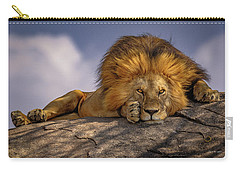 Eye Contact On The Serengeti Carry-all Pouch