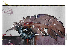 Eye Feather Carry-all Pouch by Geni Gorani