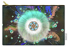 Carry-all Pouch featuring the digital art Eye Know Dark Two by Iowan Stone-Flowers