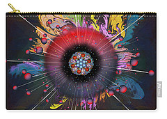 Carry-all Pouch featuring the digital art Eye Know Dark by Iowan Stone-Flowers