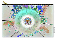 Carry-all Pouch featuring the digital art Eye Know Light Two by Iowan Stone-Flowers