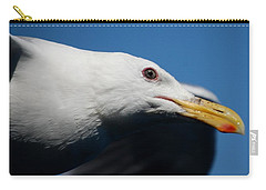 Carry-all Pouch featuring the photograph Eye Of A Seagull by Sumoflam Photography