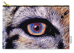 Eye Of A Tiger Carry-all Pouch by Alban Dizdari