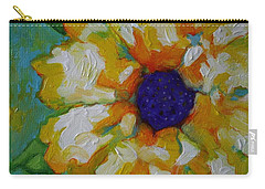 Eye Of The Flower Carry-all Pouch by Alison Caltrider