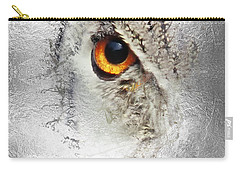 Carry-all Pouch featuring the photograph Eye Of The Owl 1 by Fran Riley