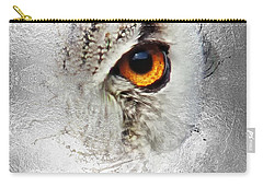 Carry-all Pouch featuring the photograph Eye Of The Owl 2 by Fran Riley