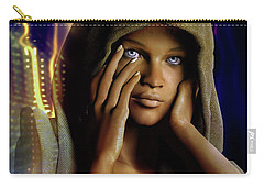 Carry-all Pouch featuring the digital art Eye Of The Soul by Shadowlea Is