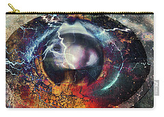 Carry-all Pouch featuring the digital art Eye Of The Storm by Linda Sannuti
