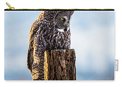 Eye On The Prize - Great Gray Owl Carry-all Pouch