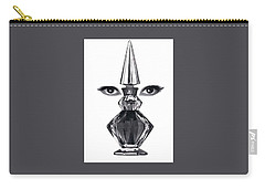 Carry-all Pouch featuring the digital art Eye See You by ReInVintaged
