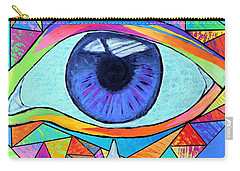 Eye With Silver Tear Carry-all Pouch