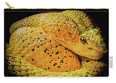 Eyelash Viper Carry-all Pouch by Karen Wiles