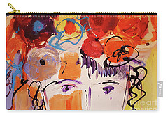Eyes And Flowers Carry-all Pouch