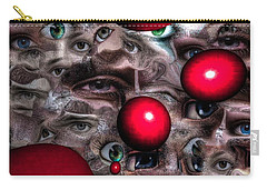 Carry-all Pouch featuring the mixed media Eyes Around Us by Yury Bashkin