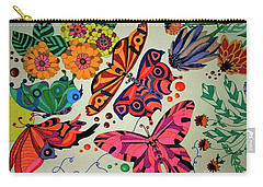 Eyes Of The Butterflies Carry-all Pouch by Alison Caltrider