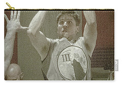 Carry-all Pouch featuring the photograph Eyes On The Basket by Ronald Santini