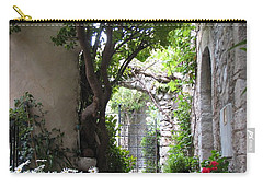 Carry-all Pouch featuring the photograph Eze Passageway by Carla Parris