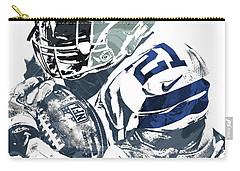 Carry-all Pouch featuring the mixed media Ezekiel Elliott Dallas Cowboys Pixel Art 5 by Joe Hamilton
