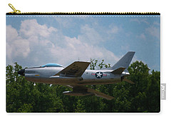 Carry-all Pouch featuring the digital art F-86l Sabre by Chris Flees