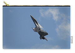 Carry-all Pouch featuring the photograph F/a-18 Fighter Fast Climb by Aaron Berg