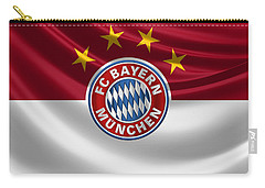 F C Bayern Munich - 3 D Badge Over Flag Carry-all Pouch