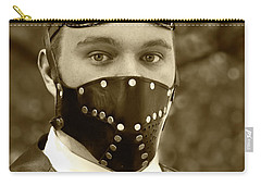 Carry-all Pouch featuring the photograph F-f-f-faba Beans - Steampunk by Betty Denise