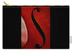 Carry-all Pouch featuring the photograph F Hole by Chris Berry