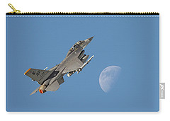 Carry-all Pouch featuring the photograph F16 - Aiming High by Pat Speirs