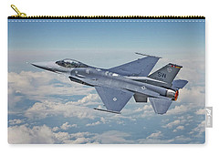 Carry-all Pouch featuring the digital art F16 - Fighting Falcon by Pat Speirs