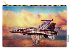 Carry-all Pouch featuring the photograph F16c Fighting Falcon by Chris Lord