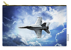 Carry-all Pouch featuring the photograph F18 Fighter Jet by Aaron Berg
